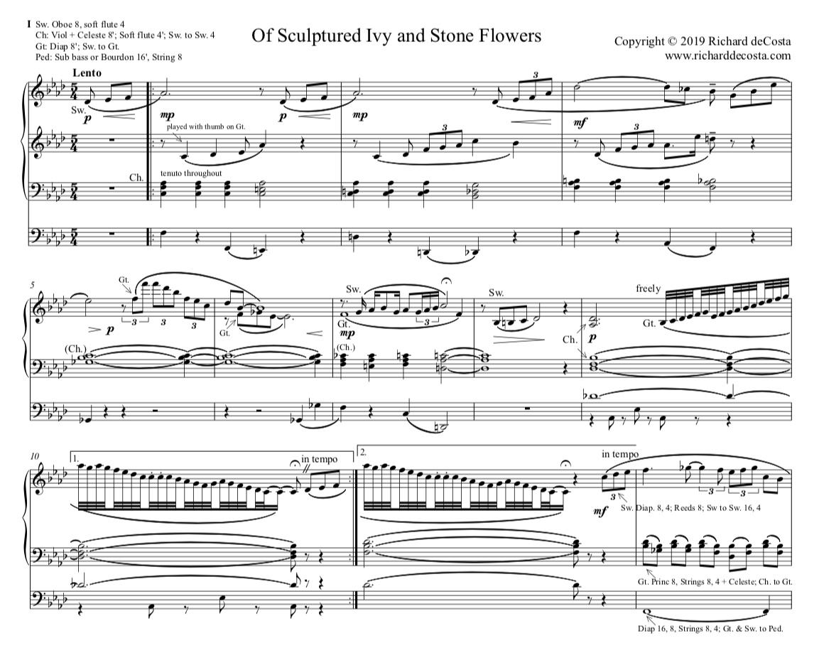 Of Sculptured Ivy and Stone Flowers - Organ - PDF Score & MP3